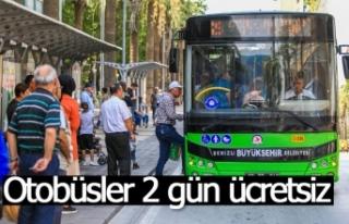 Otobüsler 2 gün ücretsiz