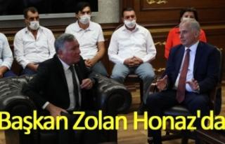 Başkan Zolan Honaz'da