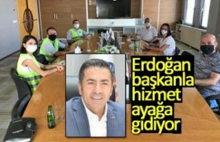 Erdoğan başkanla hizmet ayağa gidiyor!