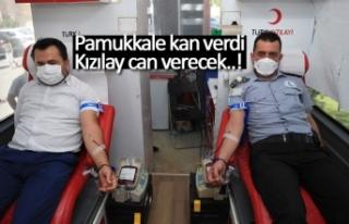 Pamukkale Kan verdi Kızılay can verecek!