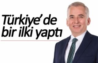 Türkiye'de bir ilki yaptı!