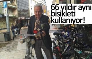 66 yıldır aynı bisikleti kullanıyor!