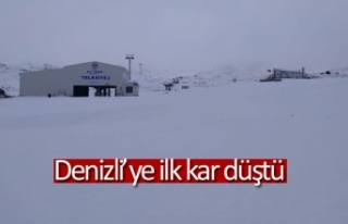 Denizli'ye ilk kar düştü