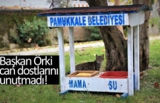 Başkan Örki can dostlarını unutmadı!