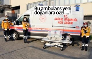 Bu ambulans yeni doğanlara özel!