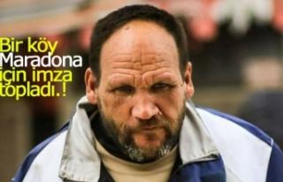 Bir köy Maradona için imza topladı!