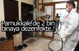 Pamukkale'de 2 bin binaya dezenfekte