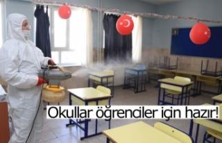 Okullar öğrenciler için hazır!