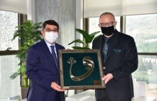 Başkan Ergün'e yeni bina için 'Hayırlı...