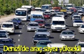 Denizli'de araç sayısı arttı
