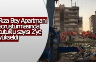 İzmir'deki depremde yıkılan Rızabey Apartmanı...