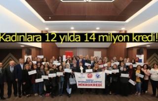 Kadınlara 12 yılda 14 milyon kredi!