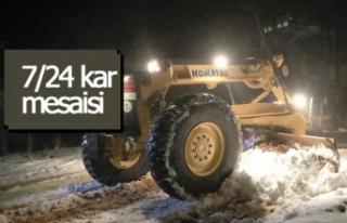 Pamukkale Belediyesi'nden 7/24 kar mesaisi!