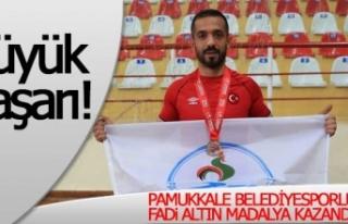Pamukkale Belediyesporlu Fadi Altın Madalya Kazandı