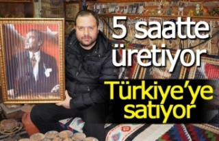 5 saatte üretip Türkiye'ye satıyor