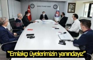 """Başkan Erdoğan: """"Emlakçı üyelerimizin yanındayız"""""""