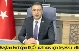 Başkan Erdoğan KÇÖ uzatması için teşekkür...