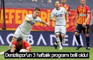 Denizlispor'un 3 haftalık programı belli oldu!