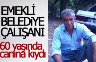 Emekli belediye işçisi intihar etti