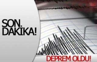 Gece gerçekleşen deprem korkuttu!