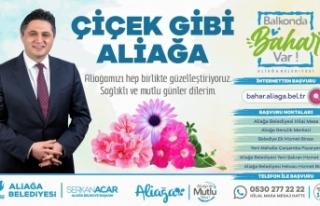 İzmir Aliağa'da balkonlar çiçeklerle dolacak