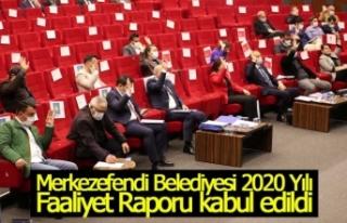 Merkezefendi Belediyesi 2020 Yılı Faaliyet Raporu...