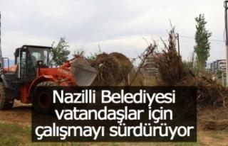 Nazilli Belediyesi ve DSİ'den kanal ıslahında...