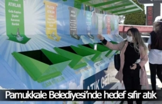 Pamukkale Belediyesi'nde hedef sıfır atık