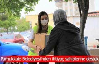 Pamukkale Belediyesi'nden ihtiyaç sahiplerine destek