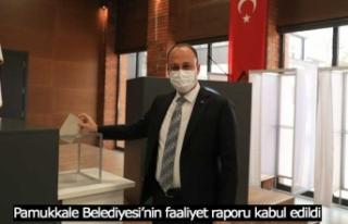 Pamukkale Belediyesi'nin faaliyet raporu kabul edildi