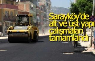 Sarayköy'de alt ve üst yapı çalışmaları...