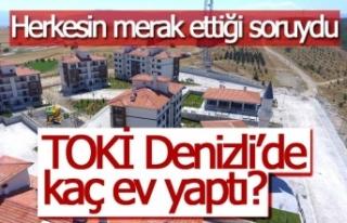 TOKİ Denizli'de kaç ev yaptı?