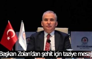 Başkan Zolan'dan Özel Harekat Polisi Kabalay için...