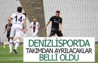 Denizlispor'da takımdan ayrılacaklar belli...
