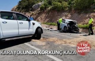 Karayolunda korkunç kaza; 1 ölü 3 yaralı