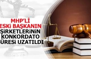 MHP'li eski başkanın şirketlerinin konkordato...