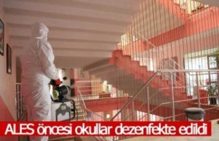 Pamukkale Belediyesi ALES öncesi okulları dezenfekte...