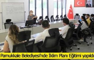 Pamukkale Belediyesi'nde İklim Planı Eğitimi...