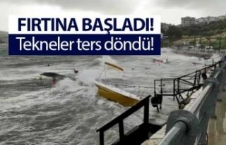 Tekneler fırtınaya dayanamadı!