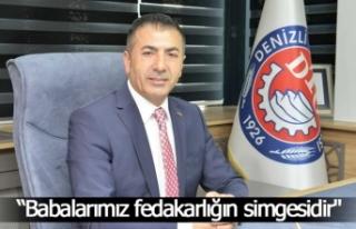 """Başkan Erdoğan, """"Babalarımız fedakarlığın..."""