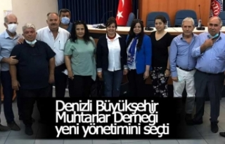 Denizli Büyükşehir Muhtarlar Derneği yeni yönetimini...