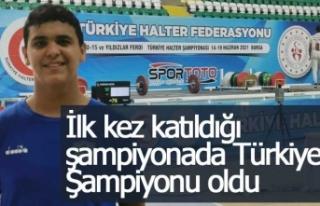 İlk kez katıldığı şampiyonada Türkiye Şampiyonu...