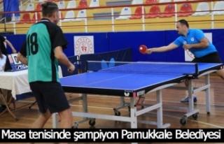 Masa tenisinde şampiyon Pamukkale Belediyesi