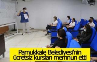 Pamukkale Belediyesi'nin ücretsiz kursları memnun...