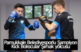 Pamukkale Belediyesporlu Şampiyon Kick Bokscular...