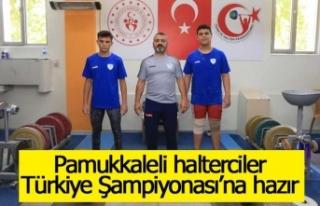 Pamukkaleli halterciler Türkiye Şampiyonası'na...