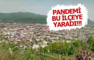 Pandemi bu ilçeye yaradı