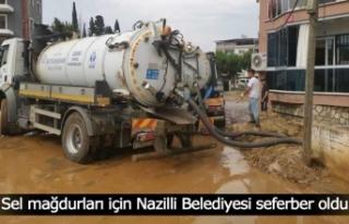Sel mağdurları için Nazilli Belediyesi seferber...