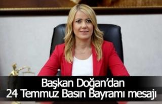 """Başkan Doğan, """"Türk basını, her zaman milletin..."""