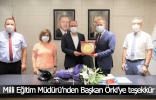 Milli Eğitim Müdürü Çimen'den Başkan Örki'ye...